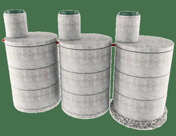 Трехкамерная конструкция септика в Серпухове